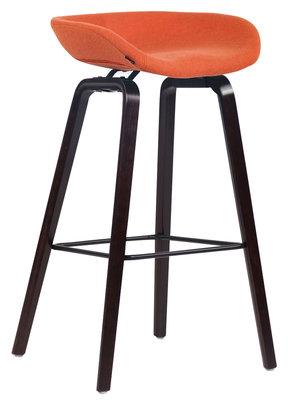 Barkruk Inehaam vilt Oranje,walnuss (eiche)