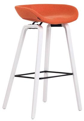 Barkruk Inehaam vilt Oranje,Wit (eiche)