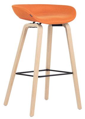 Barkruk Inehaam stof Oranje,natura (eiche)