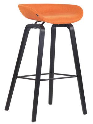 Barkruk Inehaam stof Oranje,Zwart (eiche)