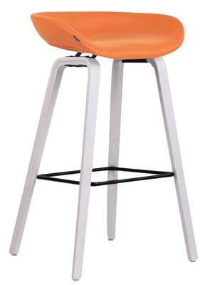 Barkruk Inehaam stof Oranje,Wit (eiche)