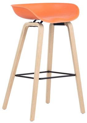 Barkruk Inehaam Kunststof Oranje,natura (eiche)