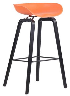 Barkruk Inehaam Kunststof Oranje,Zwart (eiche)
