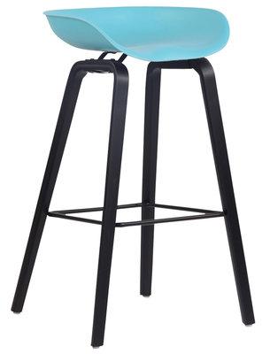 Barkruk Inehaam Kunststof Blauw,Zwart (eiche)