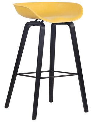 Barkruk Inehaam Kunststof Geel,Zwart (eiche)