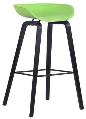 Barkruk Inehaam Kunststof Groen,Zwart (eiche)