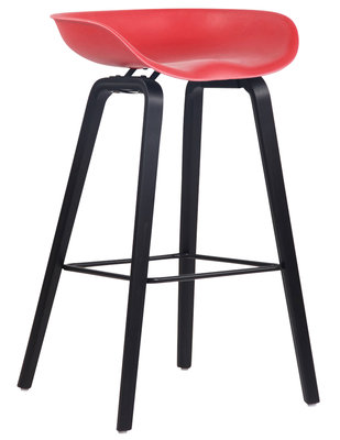 Barkruk Inehaam Kunststof Rood,Zwart (eiche)
