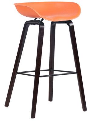 Barkruk Inehaam Kunststof Oranje,walnuss (eiche)