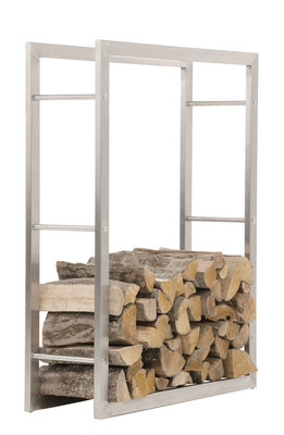 Brandhoutstandaard Kire RVS 25x80x100 cm,