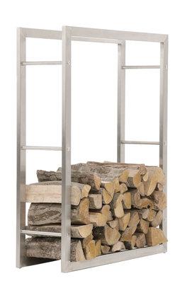 Brandhoutstandaard Kire RVS 25x100x100 cm,