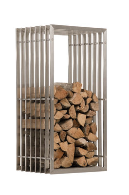 Brandhoutrek Erveng RVS 40x50x100 cm,