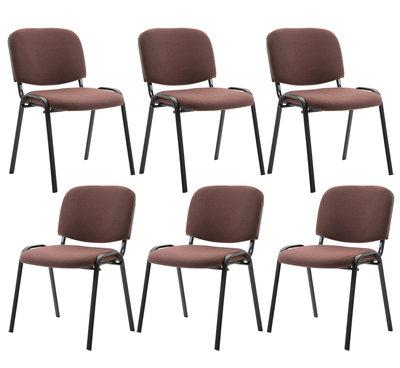 Kin set van 6 bezoekersstoelen Bruin