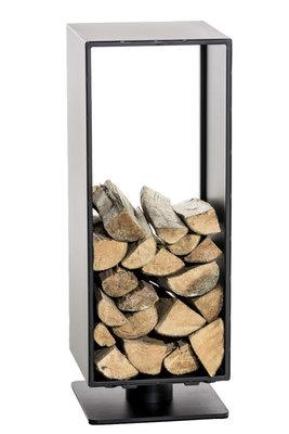 Brandhoutstandaard Bisal Zwart-matt,60x30 cm