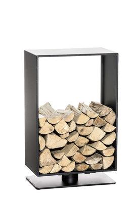 Brandhoutstandaard Bisal Zwart-matt,80x50 cm