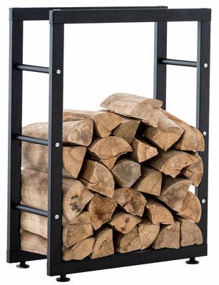 Brandhoutrek Kire V2 Zwart,25x60x100 cm