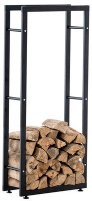Brandhoutrek Kire V2 Zwart,25x80x150 cm