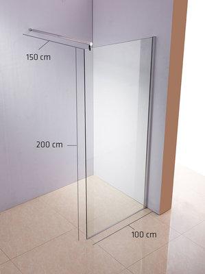 Douchecabine rond klarglas,100x200x150 cm,