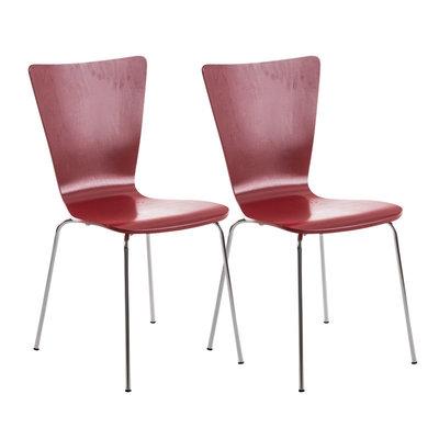 2x bezoekersstoelen Oaran Rood