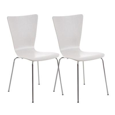 2x bezoekersstoelen Oaran Wit