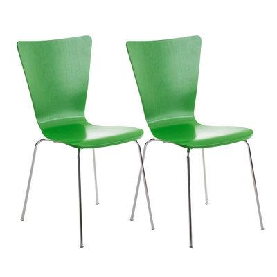 2x bezoekersstoelen Oaran Groen
