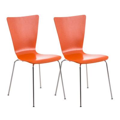 2x bezoekersstoelen Oaran Oranje