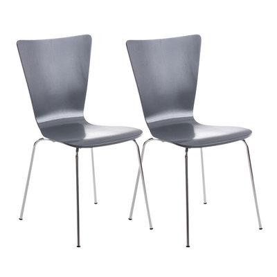 2x bezoekersstoelen Oaran Grijs