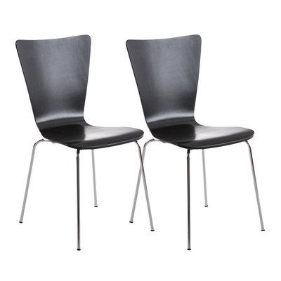 2x bezoekersstoelen Oaran Zwart