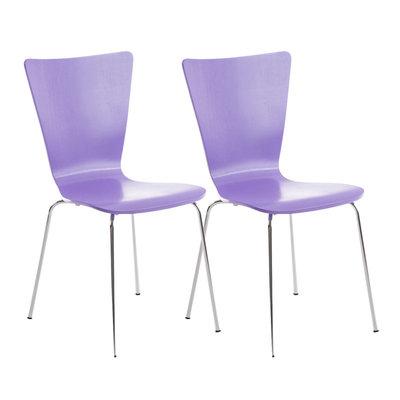 2x bezoekersstoelen Oaran Paars