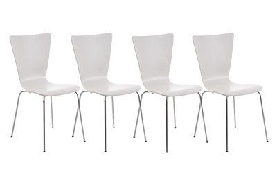 4x bezoekersstoel Oaran Wit