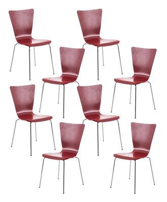 8x bezoekersstoel Oaran Rood