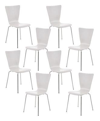 8x bezoekersstoel Oaran Wit