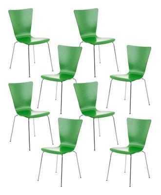 8x bezoekersstoel Oaran Groen
