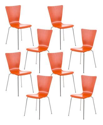 8x bezoekersstoel Oaran Oranje