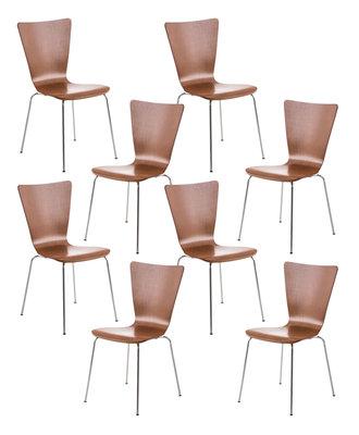 8x bezoekersstoel Oaran Bruin
