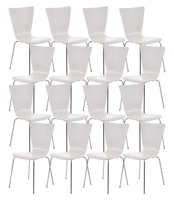 16x bezoekersstoel Oaran Wit
