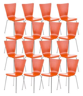 16x bezoekersstoel Oaran Oranje