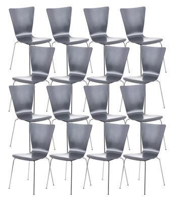 16x bezoekersstoel Oaran Grijs