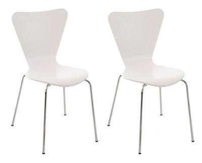 2x bezoekersstoel Colista Wit