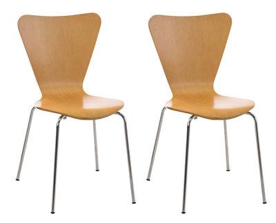 2x bezoekersstoel Colista natura,