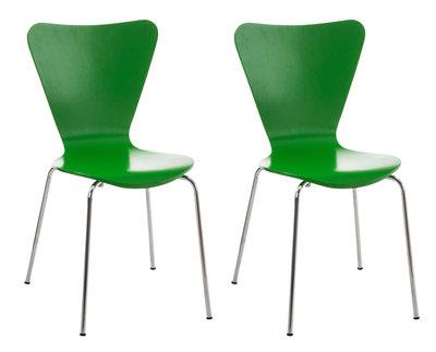 2x bezoekersstoel Colista Groen