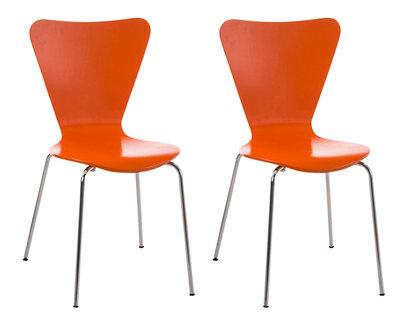 2x bezoekersstoel Colista Oranje
