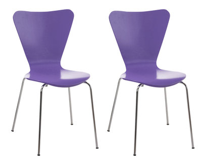 2x bezoekersstoel Colista Paars
