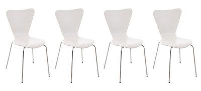 4x bezoekersstoel Colista Wit