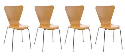 4x bezoekersstoel Colista natura,