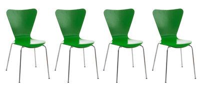 4x bezoekersstoel Colista Groen