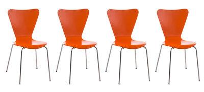 4x bezoekersstoel Colista Oranje
