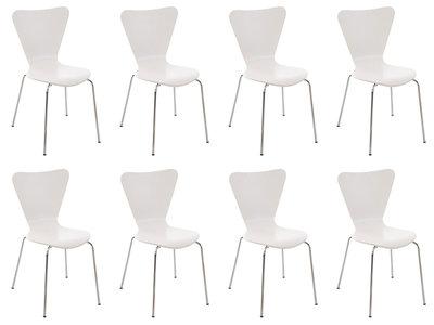 8x bezoekersstoel Colista Wit