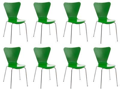 8x bezoekersstoel Colista Groen