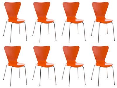 8x bezoekersstoel Colista Oranje