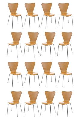16x bezoekersstoel Colista natura,